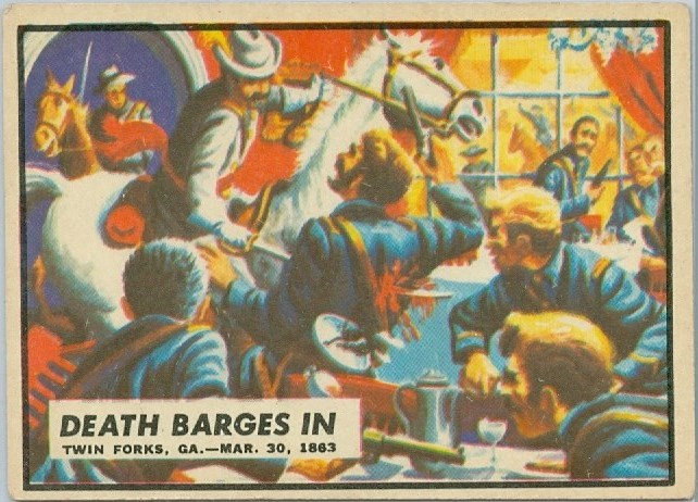 "1962 ""CIVIL WAR NEWS"" CARD #37 ""DEATH BARGES IN"""