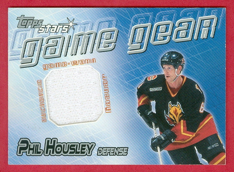 """Phil Housley"" GAME GEAR JERSEY CARD #GG-PH"