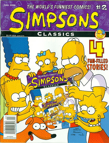 "BONGO COMICS 2004 ""SIMPSON'S CLASSICS"" Issue #2"