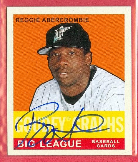 """""""Reggie Abercrombie"""" SP AUTOGRAPH MINI CHASE CARD"""