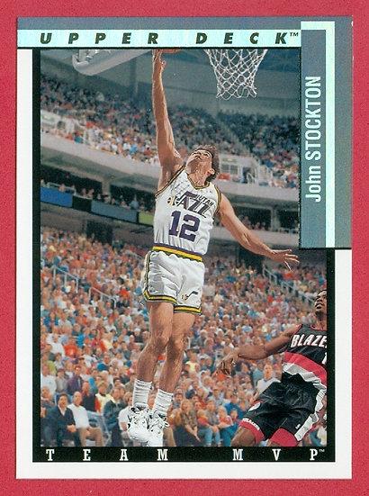 """""""John Stockton"""" HOF - TEAM MVP CHASE CARD #TM26"""