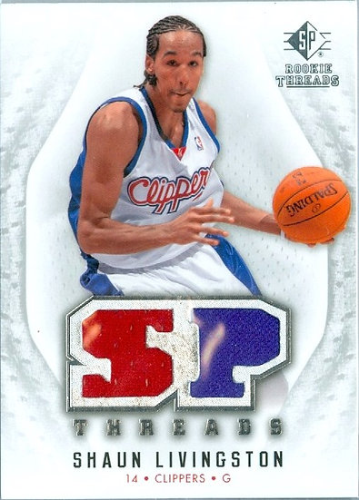 """""""Shaun Livingston"""" SP DBL GAME-USED JERSEY CARD"""