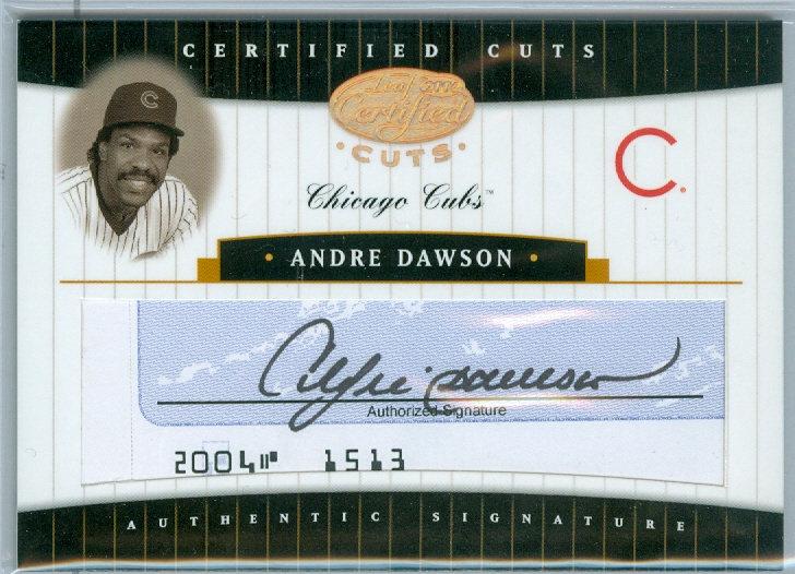 """Andre Dawson"" AUTHENTIC CUT AUTOGRAPH #ed 04/22"