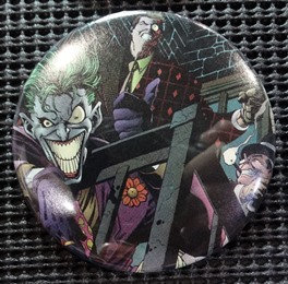 """The JOKER/TWO-FACE/PENGUIN"" POP CULTURE 3"" PINBACK/PIN-BACK COMIC BUTTON"