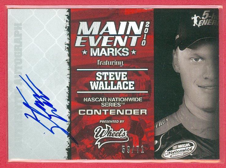 """""""Steve Wallace"""" NASCAR SP AUTOGRAPH CARD #d 59/71"""