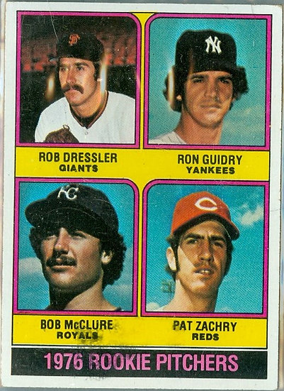 "1976 TOPPS ""ROOKIE PITCHERS"" ROOKIE/RC Card #599"