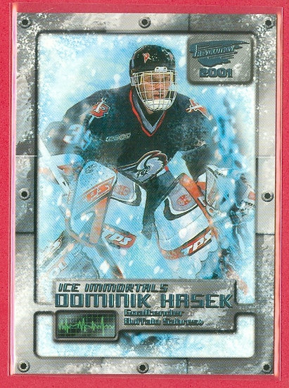 Dominik Hasek PACIFIC ICE IMMORTALS CHASE CARD #3