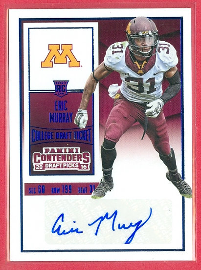 """""""Eric Murray"""" CONTENDERS SP RC AUTO CARD #245"""