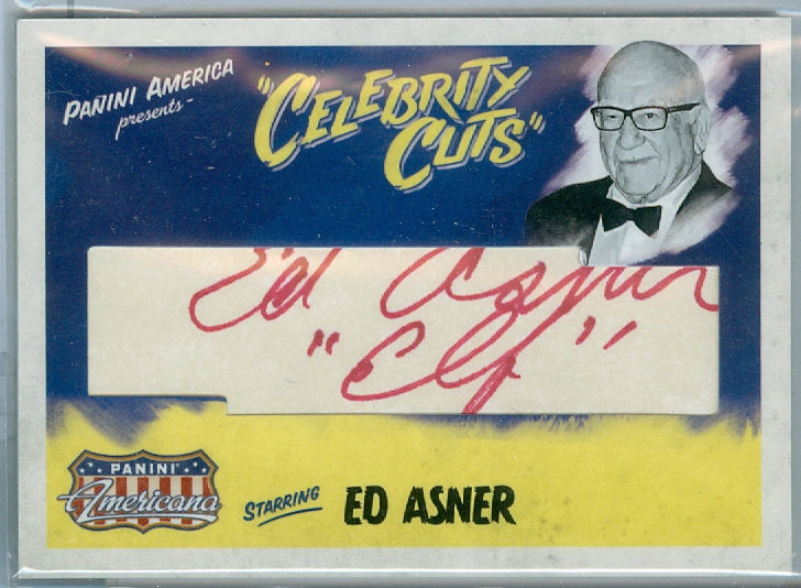 """Ed Asner"" AUTHENTIC CUT SIGNATURE #ed 39/40"
