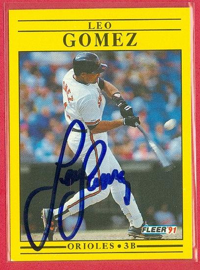 """Leo Gomez"" IN PERSON/THROUGH THE MAIL AUTO CARD"