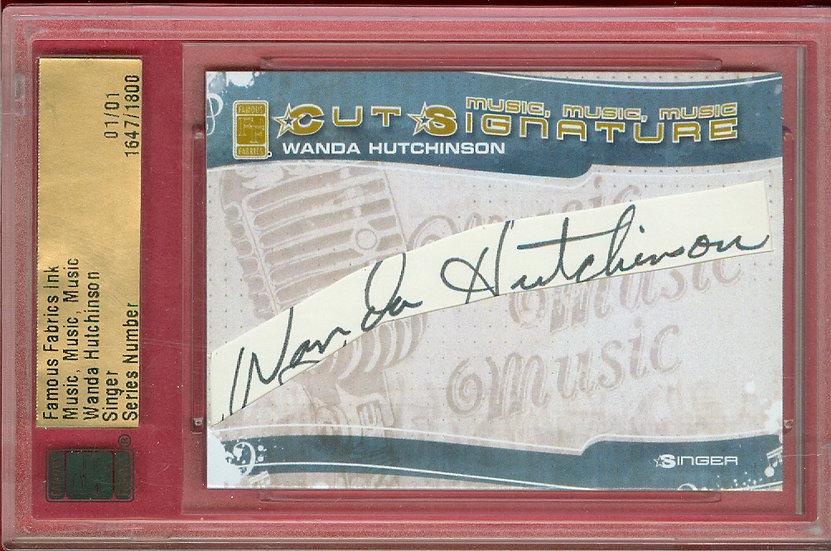 """Wanda Hutchinson"" SSP CUT SIGNATURE CARD #d 01/01"
