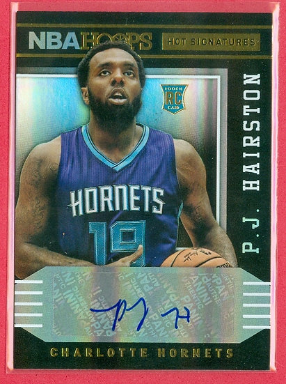 """""""P.J. Hairston"""" SP RC AUTOGRAPH FOIL CHASE CARD"""