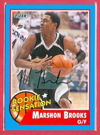 """Marshon Brooks"" FLEER SP RC AUTOGRAPH CARD #66"