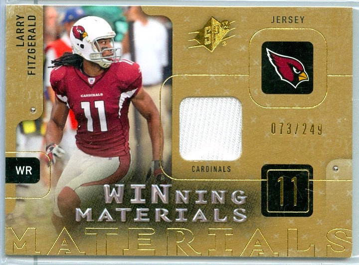 """Larry Fitzgerald"" SP GAME JERSEY CARD #d 073/249"