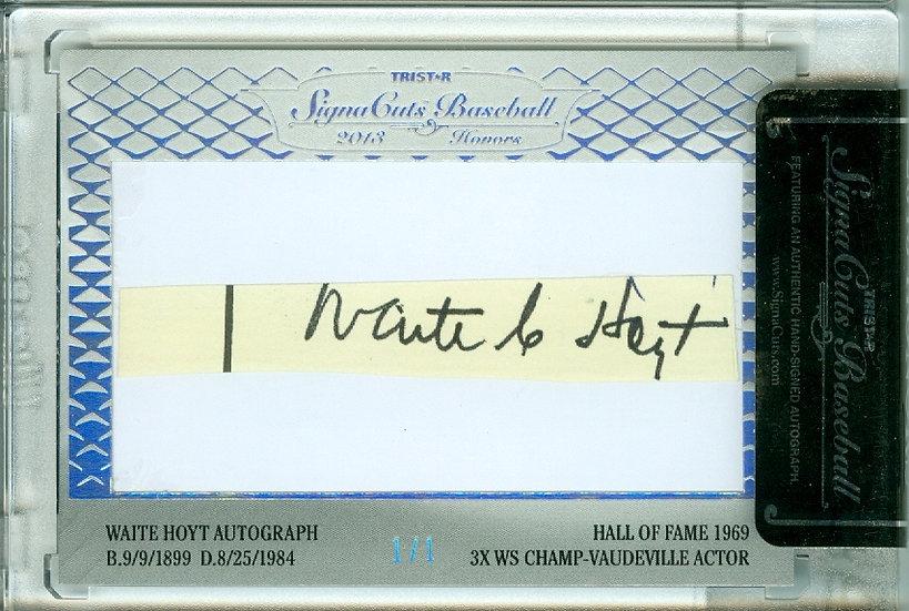 Waite Hoyt & George Burns AUTHENTIC CUT AUTO # 1/1