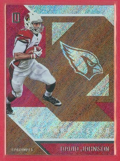 David Johnson 2016 UNPARALLELED FB BRONZE CARD #86