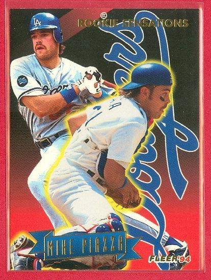 """Mike Piazza"" HOF/ROOKIE SENSATIONS CHASE CARD #14"