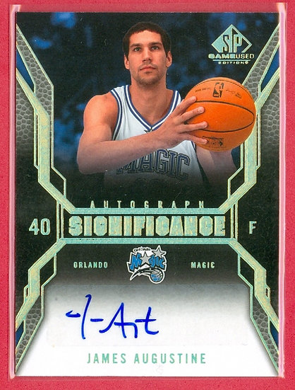 """""""James Augustine"""" SP GAMEUSED AUTOGRAPH CHASE CARD"""