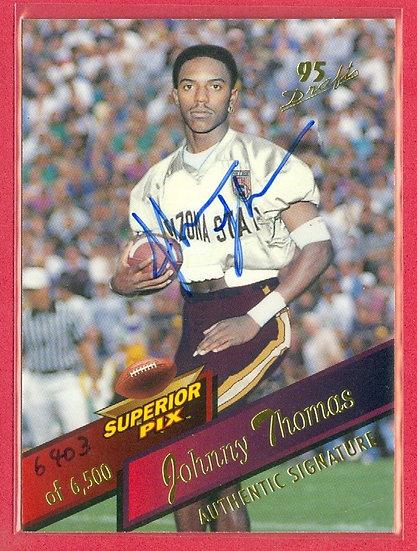 Johnny Thomas SP COLLEGE RC AUTO CARD #d 6403/6500
