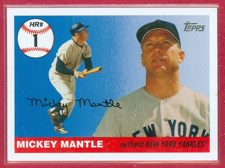 """""""Mickey Mantle"""" HOF/SP HR HISTORY CHASE CARD #MHR1"""