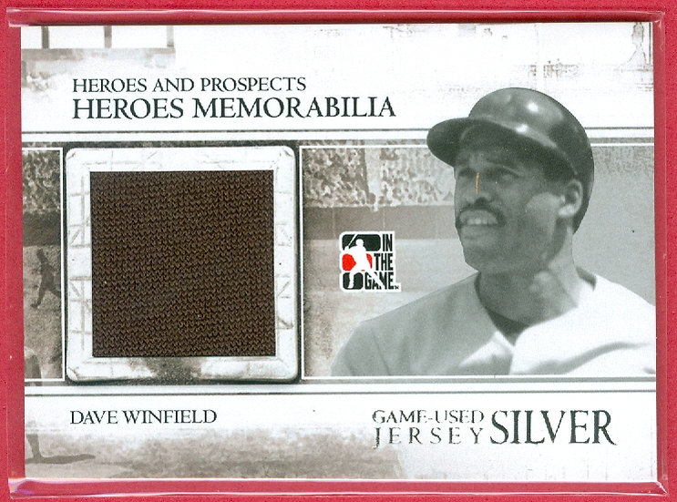 """""""Dave Winfield"""" HOF - JUMBO GAME JERSEY SWATCH SILVER CARD #HM-17"""