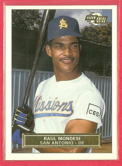 """""""Raul Mondesi"""" 1992-93 FLEER EXCEL MINORS RC #53"""