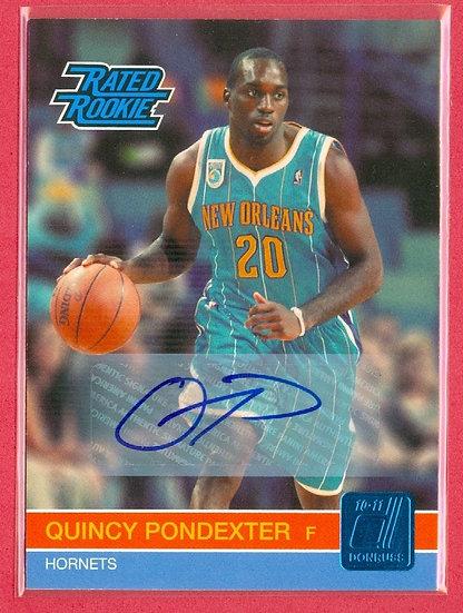 """""""Quincy Pondexter"""" SP RC AUTOGRAPH CARD #d 445/599"""