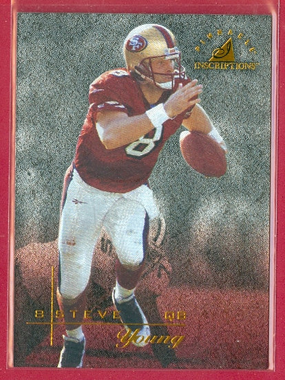 """""""Steve Young"""" 1997 PINNACLE INSCRIPTIONS PROMO #2"""