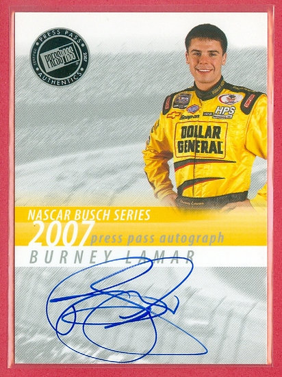 """Burney Lamar"" NASCAR SP AUTOGRAPH CHASE CARD"