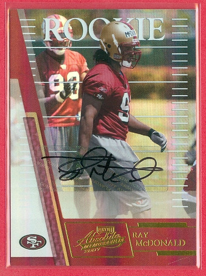 """Ray McDonald"" SP RC AUTO CHASE CARD #'ed 210/349"