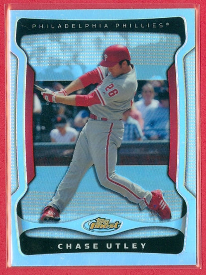 Chase Utley 2009 FINEST (BB) SP REFRACTOR CARD #26