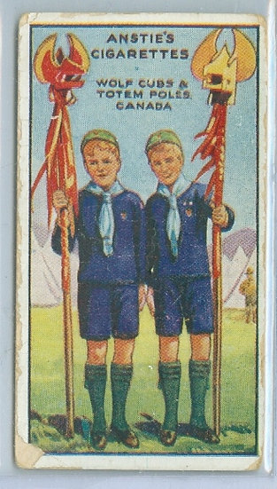 """1923 ANSTIES """"SCOUT SERIES"""" TOBACCO CARD #50"""