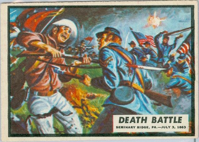 "1962 ""CIVIL WAR NEWS"" CARD #47 ""DEATH BATTLE"""