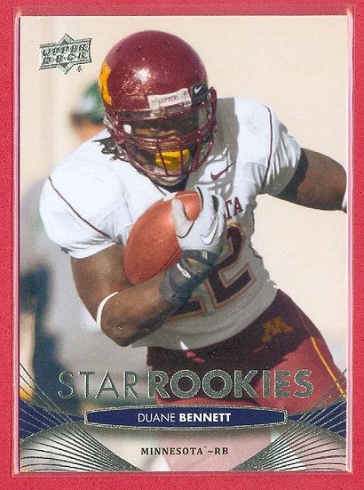 """Duane Bennett"" 2012 UD STAR ROOKIES RC CARD #69"