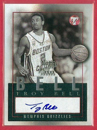 """Troy Bell"" SP RC CHROME AUTOGRAPH CARD #PEA-TB"