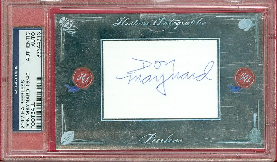 """""""Don Maynard"""" HOF SP CUT SIGNATURE CARD #d 15/40"""