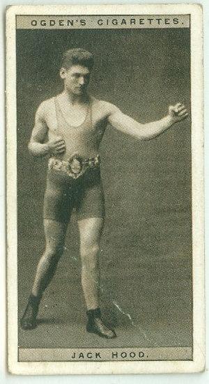 """1928 OGDEN'S """"Jack Hood"""" BOXING TOBACCO CARD #19"""