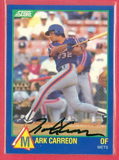 Mark Carreon IN PERSON/THROUGH THE MAIL AUTO CARD