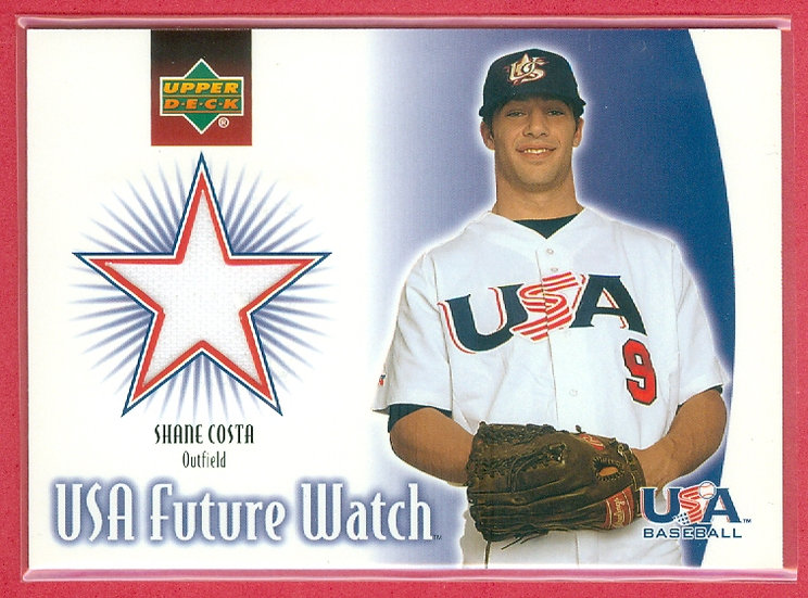 """""""Shane Costa"""" SP ROOKIE JERSEY RELIC CHASE CARD"""
