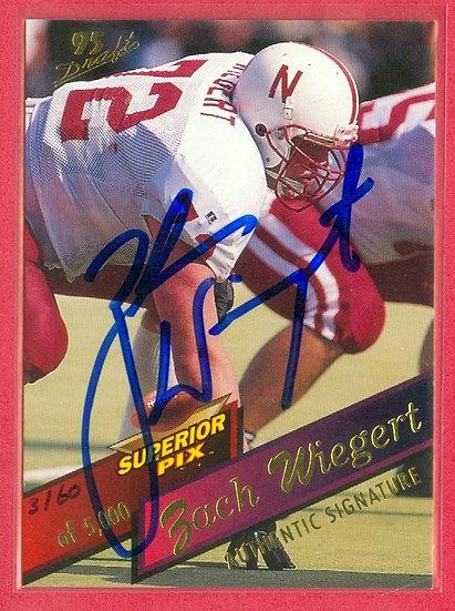 """""""Zach Wiegert"""" SP RC AUTOGRAPH CARD #'ed 3160/5000"""