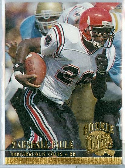 """1994 ULTRA FOOTBALL """"Marshall Faulk"""" RC CARD #133"""