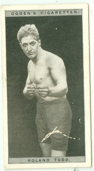 """1928 OGDEN'S """"Roland Todd"""" BOXING TOBACCO CARD #46"""