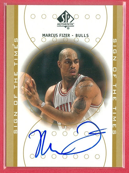 """Marcus Fizer"" SP 2ND YEAR AUTOGRAPH CHASE CARD"