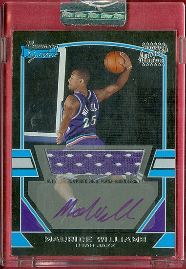 """Maurice Williams"" SP RC AUTO/JERSEY #ed 0161/1172"