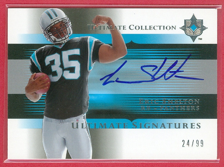 """Eric Shelton"" SP AUTO CHASE CARD #'ed 24/99"