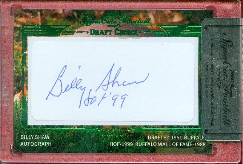 """""""Billy Shaw"""" HOF SSP CUT SIGNATURE CARD #'ed 06/10"""