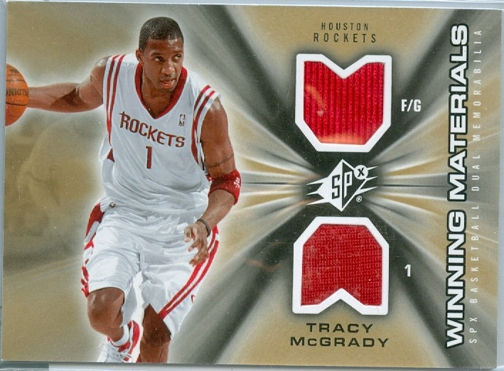 """Tracy McGrady"" SP GAME-WORN DOUBLE JERSEY CARD"