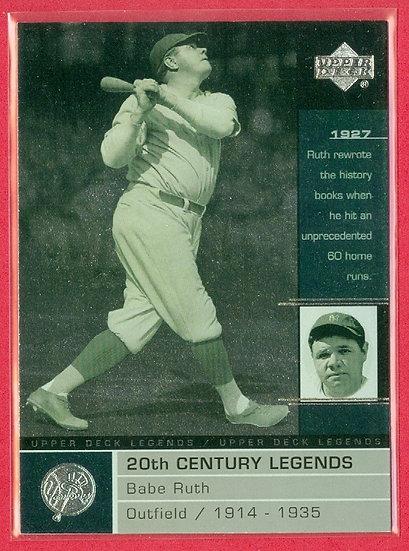 """Babe Ruth"" 2000 UD LEGENDS FOIL CARD #106"