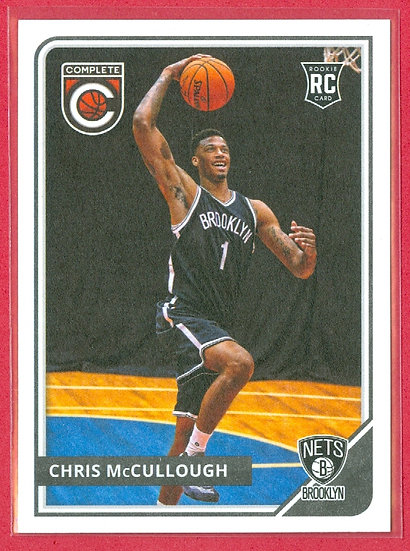 """Chris McCullough"" 2015-16 COMPLETE RC CARD #305"