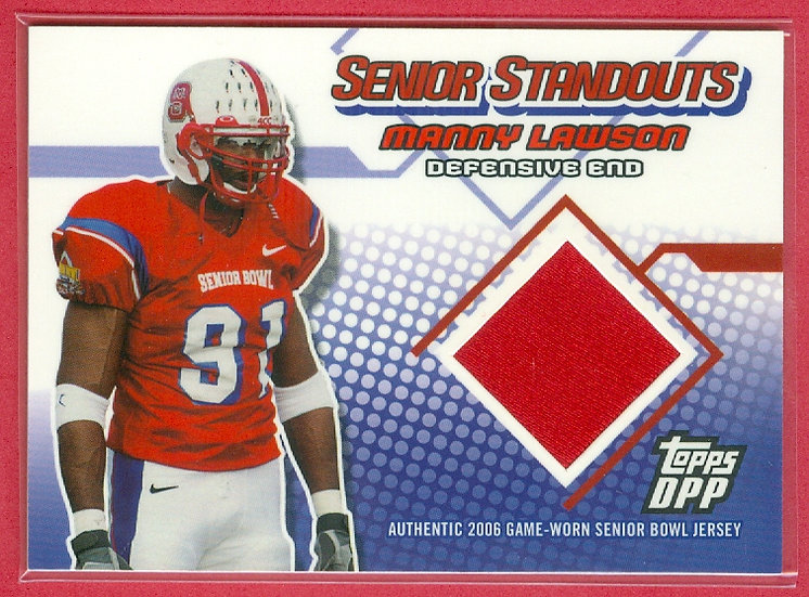 """""""Manny Lawson"""" SP RC GAME-WORN JERSEY CHASE CARD"""